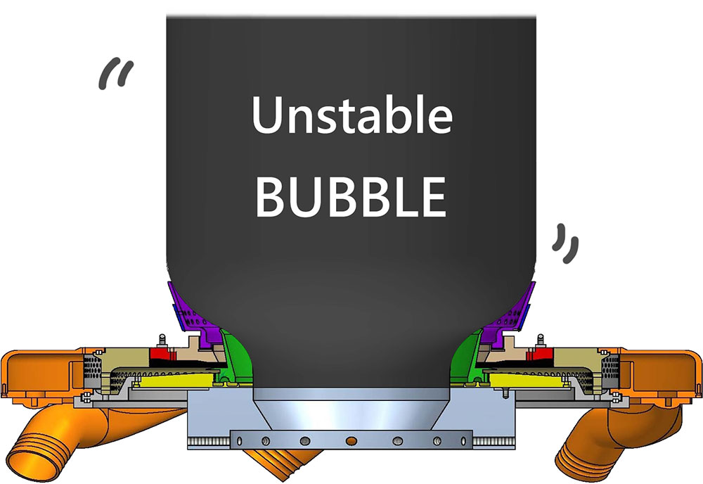unstable film bubble